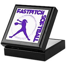 purple, Fastpitch trio Keepsake Box