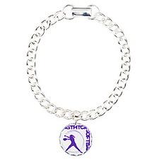 purple, Fastpitch trio Charm Bracelet, One Charm