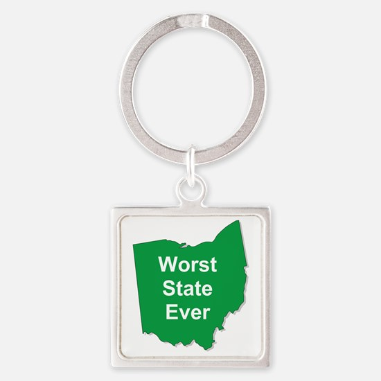 worst state ever Square Keychain