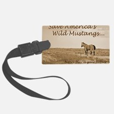 Stallion 3-Sepia Save the Mustan Luggage Tag