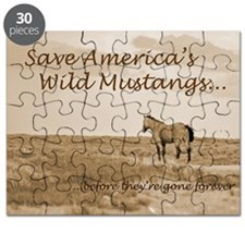 Stallion 3-Sepia Save the Mustangs before t Puzzle