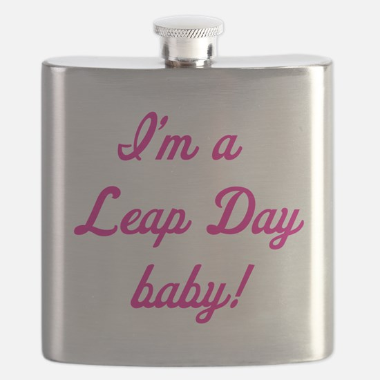leap day baby pink Flask