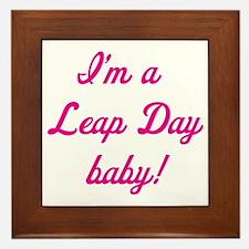leap day baby pink Framed Tile
