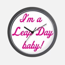 leap day baby pink Wall Clock