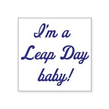 """leap day baby blue Square Sticker 3"""" x 3"""""""