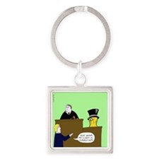 Clearly Nuts Square Keychain