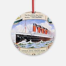 RMS_Titanic_1 Round Ornament