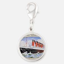RMS_Titanic_1 Silver Round Charm