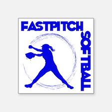 "blue, Fastpitch trio Square Sticker 3"" x 3"""