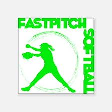 """green2, Fastpitch trio Square Sticker 3"""" x 3"""""""