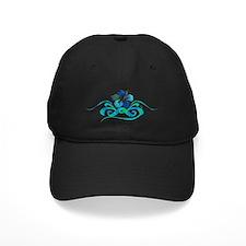 hibiscus 10x4_bl turq Baseball Hat