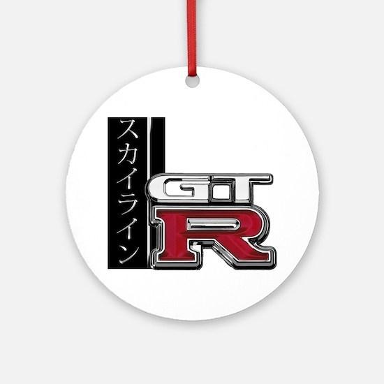 GTR-Katakana Round Ornament