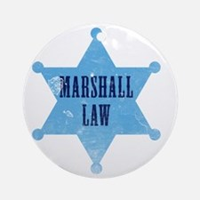 marshallLaw_tshirt_white Round Ornament