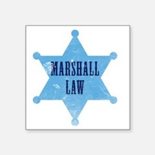 """marshallLaw_tshirt_white Square Sticker 3"""" x 3"""""""