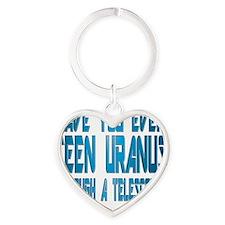 Uranus tran lg Heart Keychain