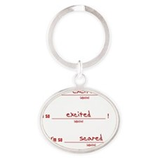 soExcited_tshirt_light Oval Keychain