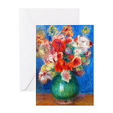 iPadS Renoir Bouq Greeting Card