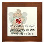 Good Friend's are like Angel' Framed Tile