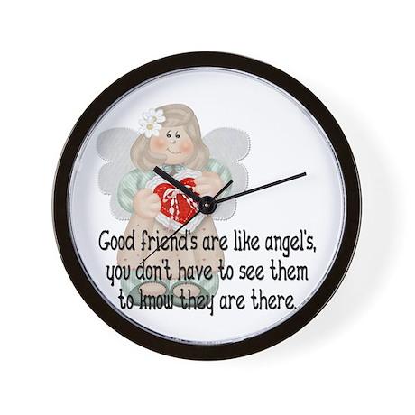 Good Friend's are like Angel' Wall Clock