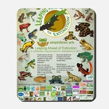Leaping Ahead of Extinction poster Mousepad