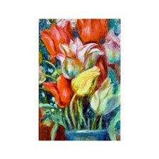 441 Renoir Tulips Rectangle Magnet