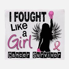 - I Fought Like A Girl 26S Breast Ca Throw Blanket