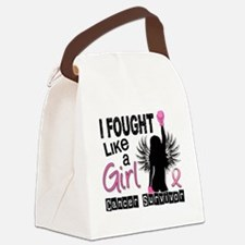 - I Fought Like A Girl 26S Breast Canvas Lunch Bag