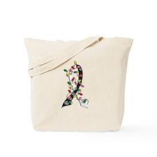 Christmas Ribbon w/Lights Carcinoid Cancer Tote Ba
