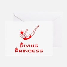 DiveChick Princess Greeting Cards (Pk of 10)