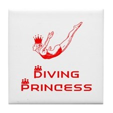 DiveChick Princess Tile Coaster
