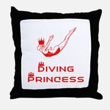 DiveChick Princess Throw Pillow