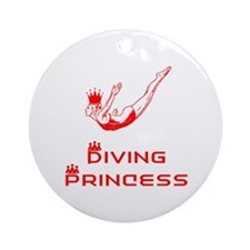 DiveChick Princess Ornament (Round)