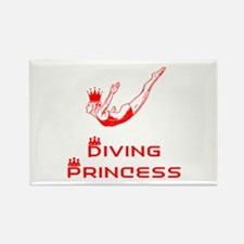 DiveChick Princess Rectangle Magnet