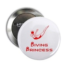 """DiveChick Princess 2.25"""" Button (10 pack)"""