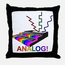 Analog! Throw Pillow