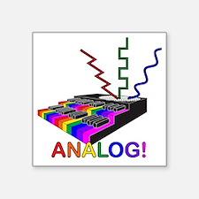 "Analog! Square Sticker 3"" x 3"""