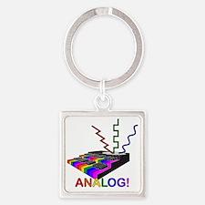 Analog! Square Keychain