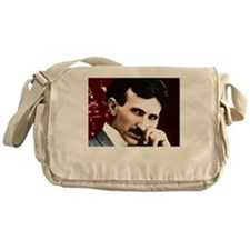 Tesla_white Messenger Bag
