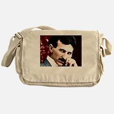 Tesla_white Messenger Bag