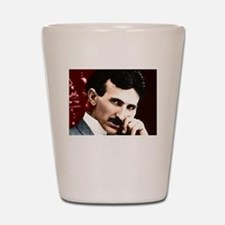 Tesla_white Shot Glass