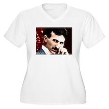 Tesla_white T-Shirt