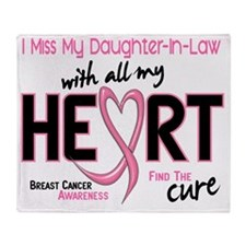 - Miss With All My Heart Daughter-In Throw Blanket