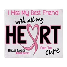 - Miss With All My Heart Best Friend Throw Blanket