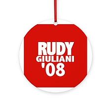 Rudy in 08 Ornament (Round)