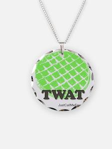 Twat Waffle Necklace Circle Charm