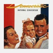 ART 1956 Democratic convention Tile Coaster