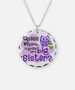 purple Owl Bkgd png Necklace