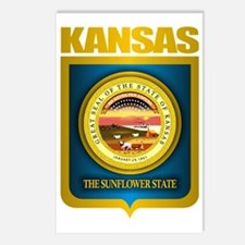 Kansas (Gold Label) Postcards (Package of 8)