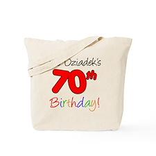 Dziadeks 70th Birthday Tote Bag