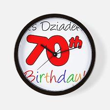 Dziadeks 70th Birthday Wall Clock